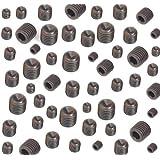 Grub Screws Metric Thread (Mixed 40 PACK) Grade 45H High Tensile Steel (10) x M3,M4,M5 & M6 x 8mm Cup Point Allen Key Socket Grub Screw Free UK Delivery