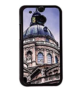 Fuson Premium 2D Back Case Cover Church Tomb With Black Background Degined For HTC One M8::HTC M8