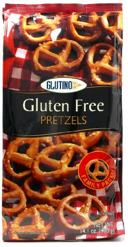 Glutino Gluten Free Pretzel Twists, 14.1-Ounce Bags (Pack of 12)