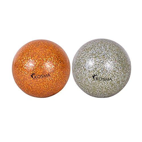 kosma-set-di-2-pc-hockey-glitter-ball-goldensilver