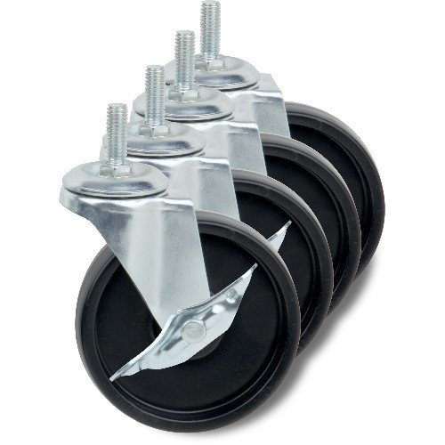 Honey-Can-Do SHF-01939 Set of Four Casters, Black, 4-Inch