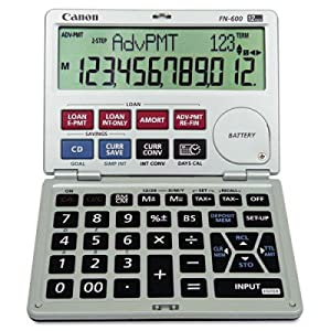 FN600 Interactive Financial Calculator - 12-Digit LCD Angled Display(sold in packs of 2)