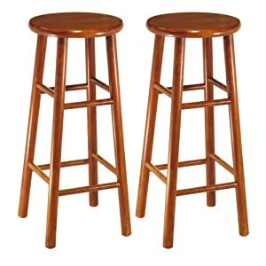 Winsome Wood Assembled 30-Inch Cherry Finish Bar Stools, Set of 2 by Winsome Wood