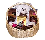 Godiva & Lindor Chocolates Galore Grand Springtime Cream Puff Bear & Assorted Chocolate Gourmet Gift Basket