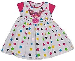 Be BeBo Girl's cotton Regular Fit Dress (530, White, 2-3yrs)
