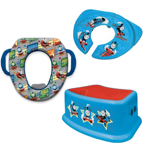 Thomas and Friends Soft Potty Seat, Travel Potty Seat and Step Stool Combo Set, Blue