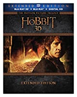 Hobbit, The: Motion Picture Trilogy 3D [Bluray + Ultra-Violet] (Amazon Exclusive) [Blu-ray] from Warner Home Video