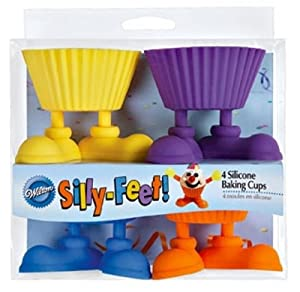 Wilton Silly- Feet Silicone Baking Cups , 4 Count