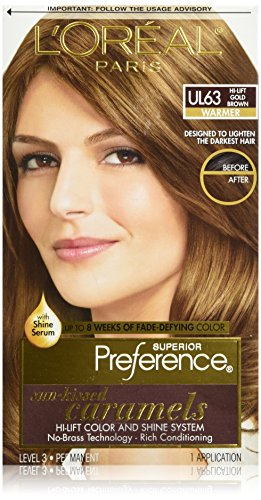 L'Oreal Paris Superior Preference Hair Color, UL63 Hi-Lift Gold Brown (Hair Dye Women compare prices)