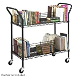 Safco Products Wire Book Cart, Black, 5333BL