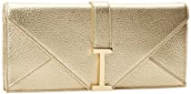 Hot Sale Isaac Mizrahi - Handbags Women's Ingrid IM92041-000 Clutch,Gold Leather,One Size