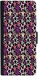 Snoogg Star Pattern Purpledesigner Protective Flip Case Cover For Samsung Gal...