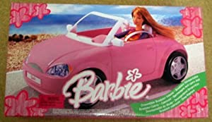 Barbie Pink Convertible Roadster Vehicle 2005