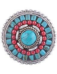 Tibet Jewelry,Coral Ring,Tibetan Jewelry,Ring - B00LB06KZ2