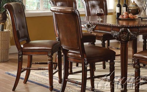 ACME 60082 Winfred Counter Height Chair Cherry Finish Set Of 2