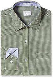 Arrow Men's Formal Shirt (8907378521514_ASSF0277_44_Medium Green)