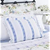 Superb Lauren by Ralph Lauren Bedding Home Lake Blue u White Quilted Standard Sham