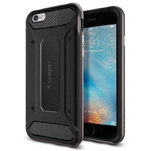Spigen iPhone6s ケース / iPhone6 ケース, ネオ・ハイブリッド カーボン [ 米軍MIL規格取得 二重構造 TPU カーボンテクスチャー ] アイフォン6s / 6 用 (ガンメタル SGP11621)