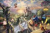 12x18 Thomas Kinkade Disney Art Print on Cotton Canvas -Beauty and the Beast