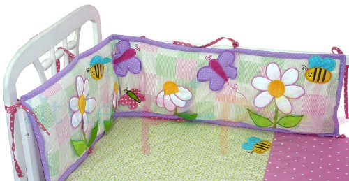The Pipal Ibby Daisies Mini Crib Bumper