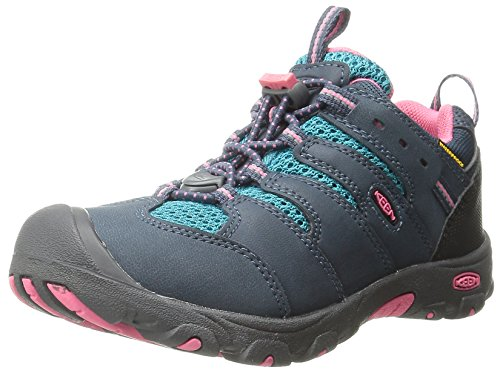 KEEN Koven Low WP Hiking Shoe (Toddler/Little Kid), Midnight Navy/Capri Breeze, 11 M US Little Kid (Kids Hiking Shoes compare prices)