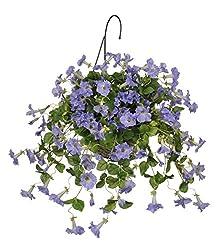 Artificial Petunia Hanging Basket, Lavender