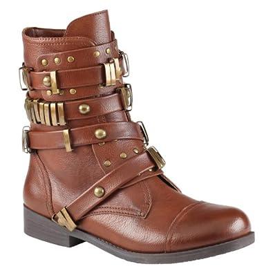 ALDO Audaise - Women Flat Boots - Cognac - 6½