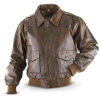 Vintage Cowhide Bomber Jacket Brown, BROWN, M