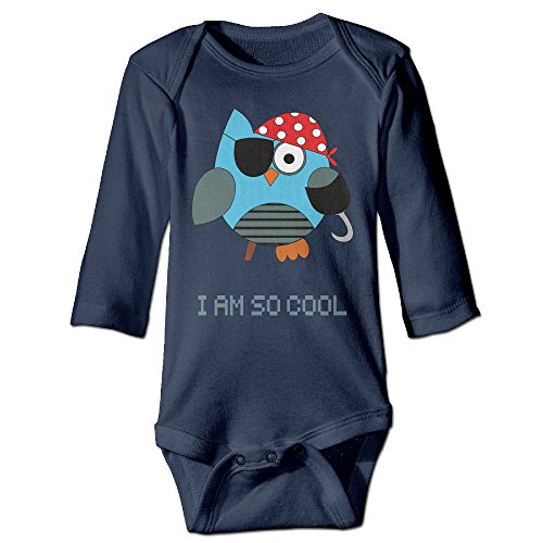 [Pirates Owl One Eye Cartoon Cool Foot Cute Boy And Girl Baby Climb Clothes 24 Months Navy] (Dances With Wolves Costumes Designer)
