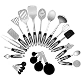 Chef Essential Classic 23-Piece Stainless Steel Kitchen Utensil Set