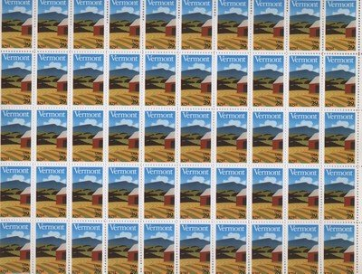Vermont Statehood Bicentennial 50 x 29 cents US postage stamps #2533