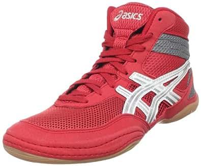 ASICS Men's Matflex 3 Wrestling Shoe,Red/ Silver/Charcoal,10.5 M US