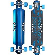 """Beercan Boards Hoke Double Drop Blue Complete Downhill Longboard Skateboard - 8"""" x 38"""""""