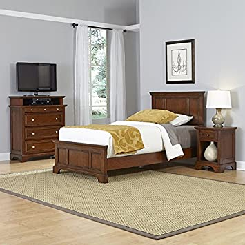 Home Styles Model  5529-4022 Chesapeake  Cherry Finish Bed Night Stand and Media Chest, Twin