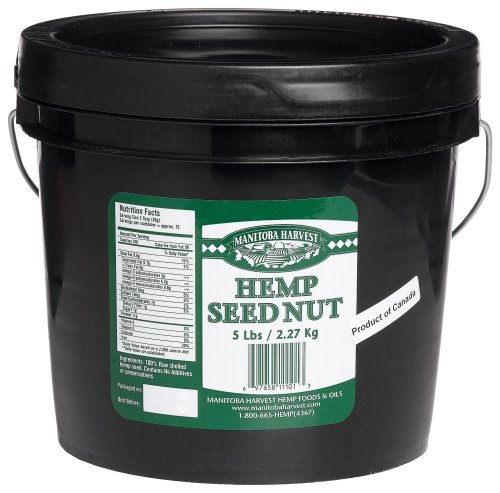 Manitoba Harvest Shelled Hemp Seed, 5-Pound Tub