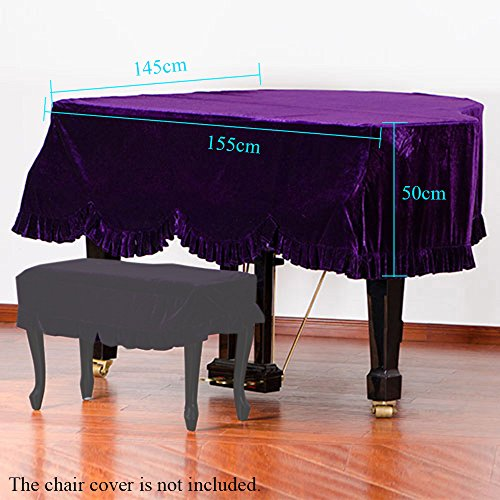 Andoer Grand Piano Pleuche Bordered Dust Protective Cover Cl