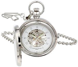 Charles-Hubert Pocket Watch 3850 Chrome Plated Picture Frame Full Hunter