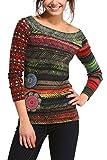 Desigual Womens Woman Long-Sleeve Morris Pullover, Green, Small