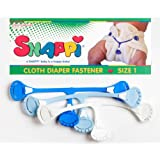 Snappi Cloth Diaper Fasteners - Pack of 3 (Light Blue, Bright Blue, White)