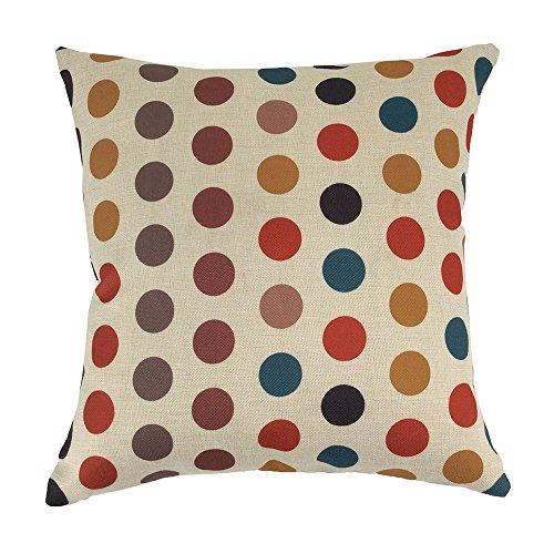 "Monkeysell Multi-colour Geometric Pattern Vintage Cotton Linen Square Throw Pillow Case Decorative Cushion Cover Pillowcase Cushion Case for Sofa,Bed,Chair -18 ""X18 "" (S024B6)"