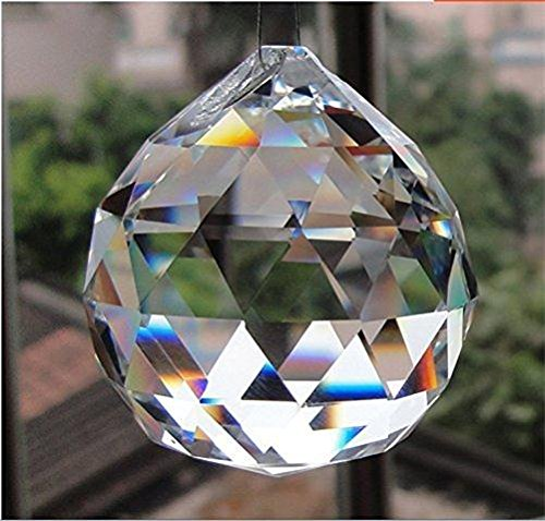 Doloburn 50mm large crystal ball prism pendant aloadofball Image collections