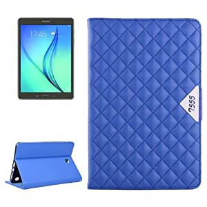 Diamond Pattern Flip Leather Case with Card Slots & Holder for Samsung Galaxy Tab A 9.7 / T550(Blue)