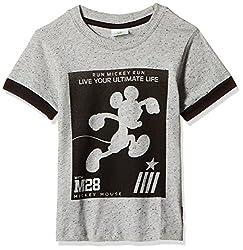 Fox Baby Boys' T-Shirt  (Grey Dots_6-12 months_327573)