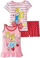 Disney Little Girls' Princess 3 Piece Short Set