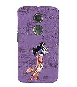EPICCASE elegant beauty Mobile Back Case Cover For Moto X 2nd Gen (Designer Case)