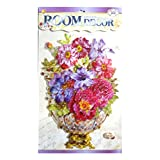Asianhobbycrafts Colourful Themed 3D Layered Pop Up Adhesive Flower Design Room Decor Wall Sticker: 1 Pc - B01CA2E0E2