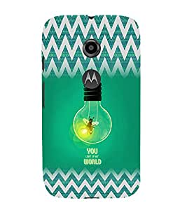 EPICCASE You Light up my World Mobile Back Case Cover For Moto E 2nd Generation (Designer Case)