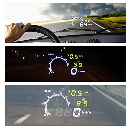 docooler® LED Digital OBD-II HUD Head Up Display