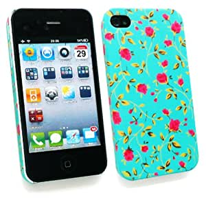 Emartbuy HD Rose Garden Clip On Protection Case / Cover / Skin For Apple iPhone 4S 4G 4S