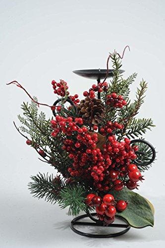 Battery-Operated-Christmas-Candle-Bridge-33h-Green-Pine-Conesc